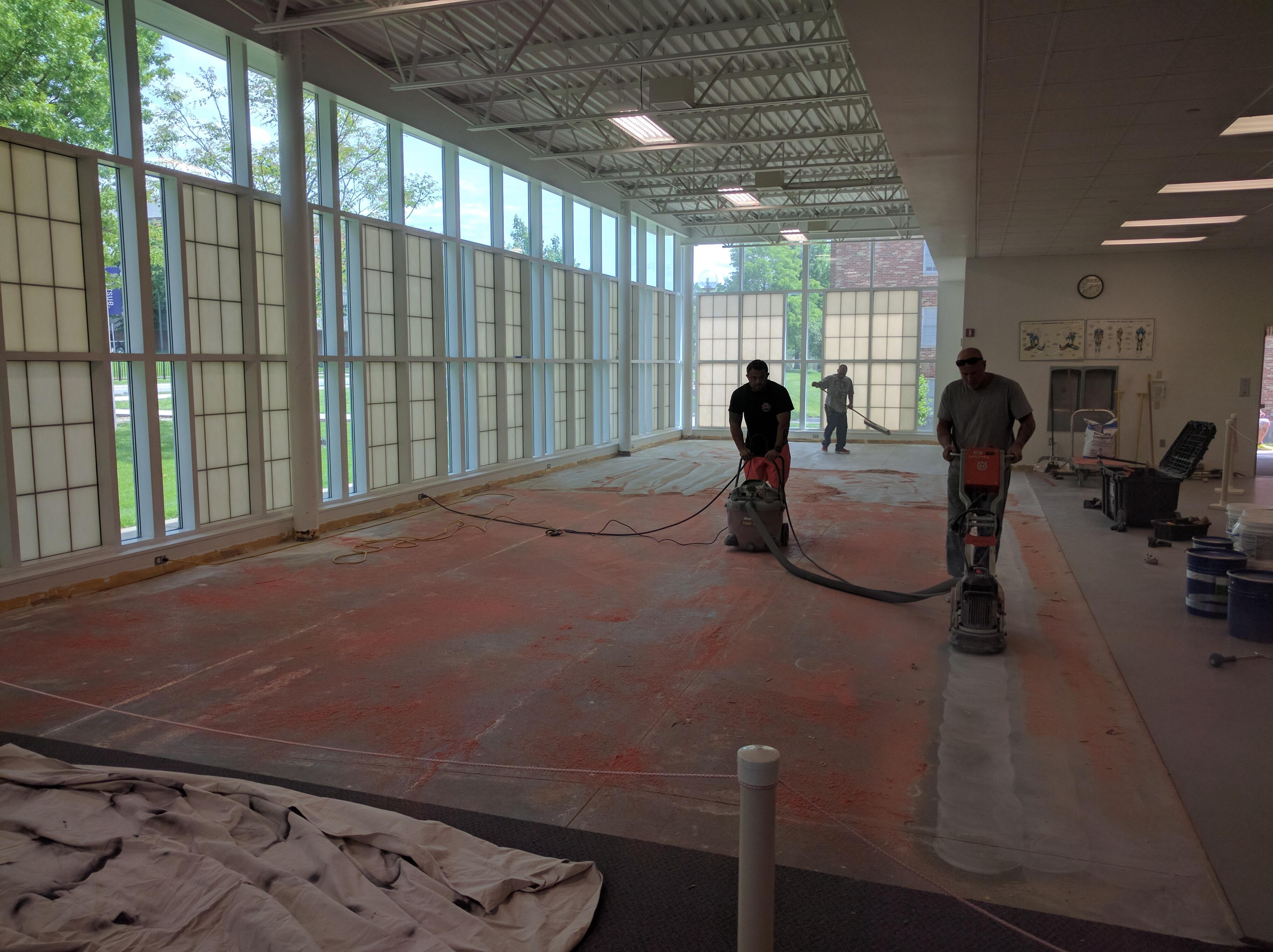 May 19th: Grinding Floor & Sealing