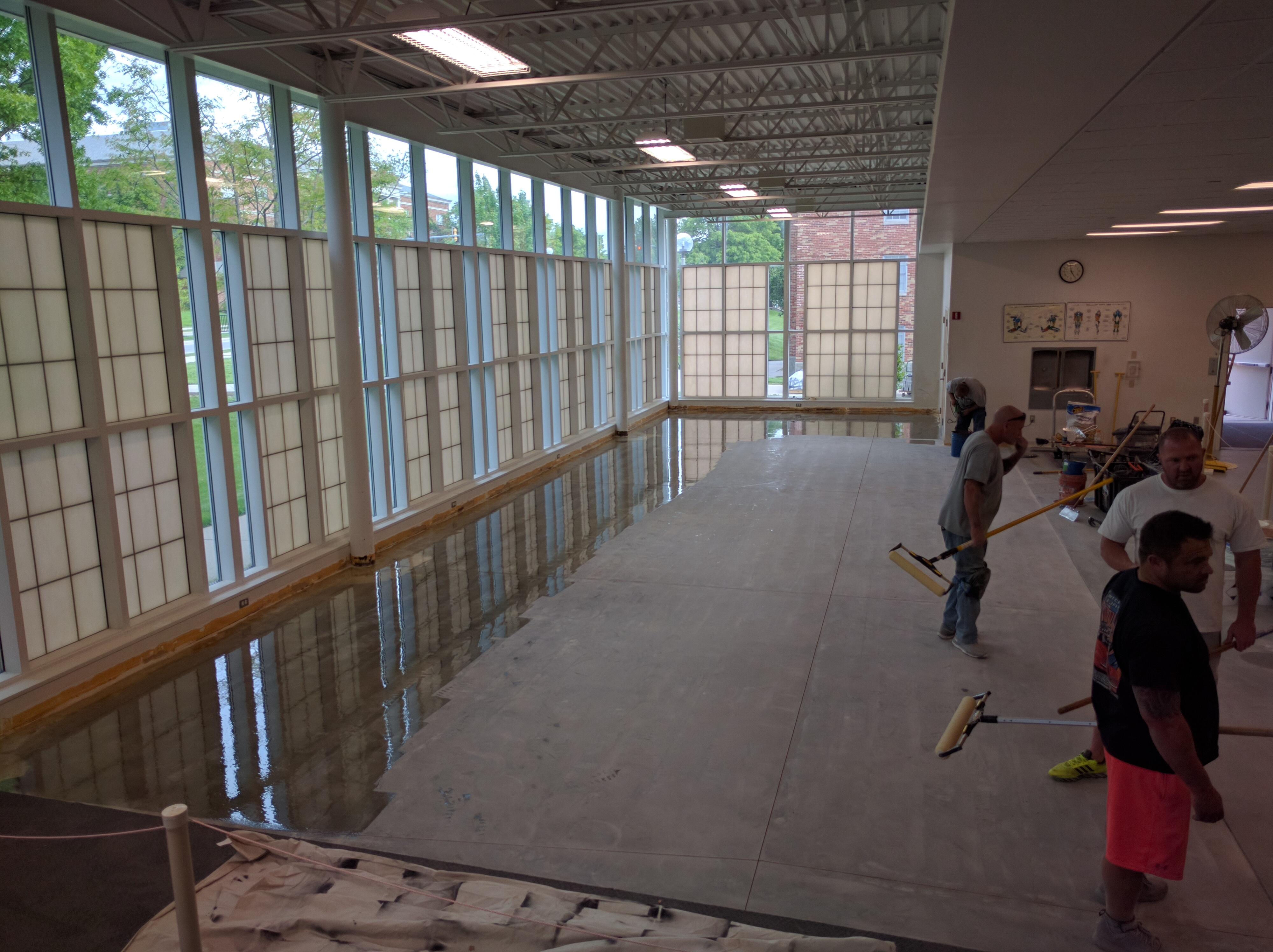 May 19th: Concrete Floor Being Sealed