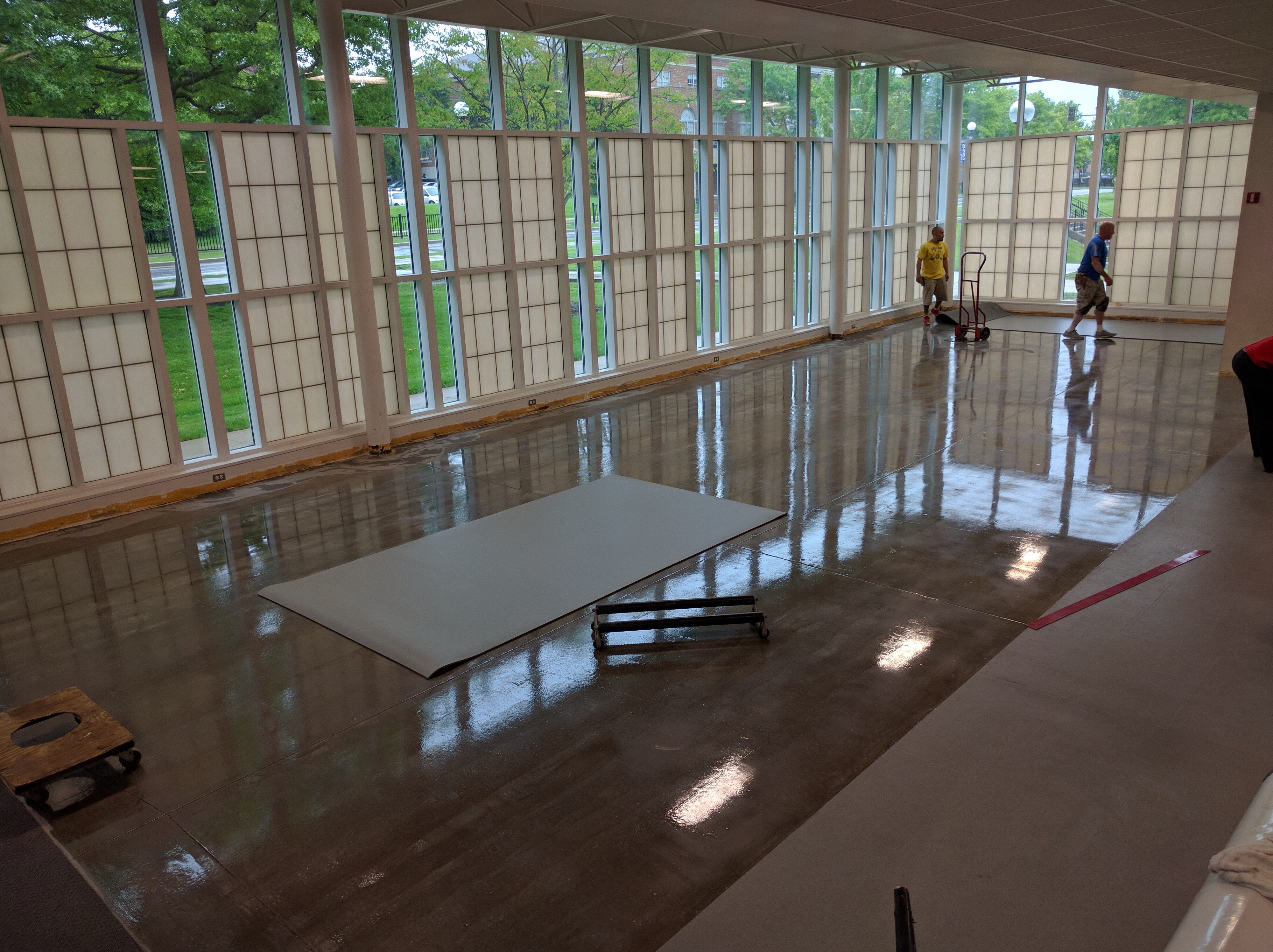 May 20th: Laying out Resilient Flooring