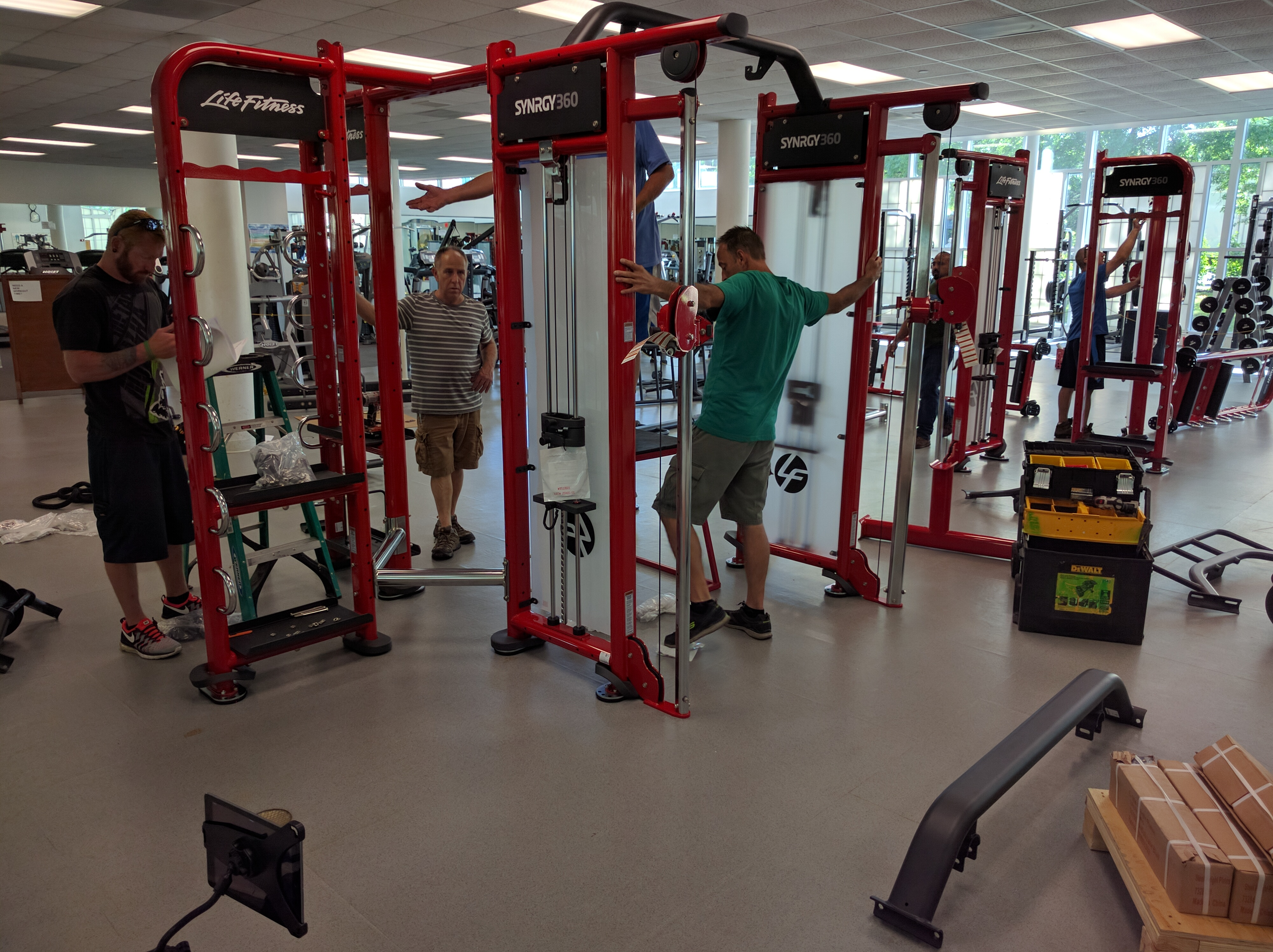 June 24th: LifeFitness Synrgy Install