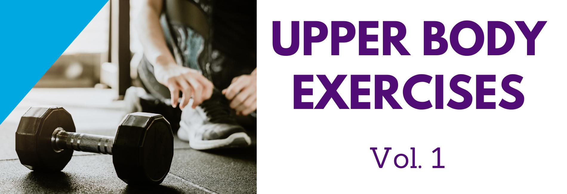Learn Upper Body Exercises using GIFs.