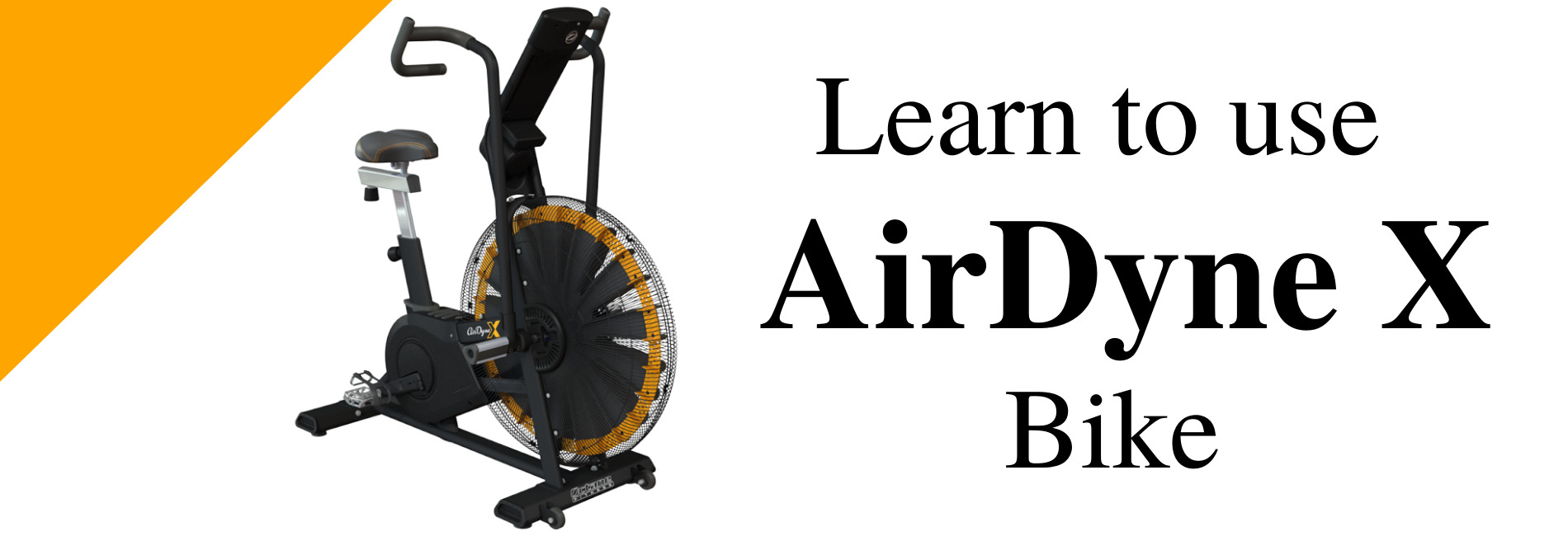 Learn to use the AirDyne X Bike using GIFs.